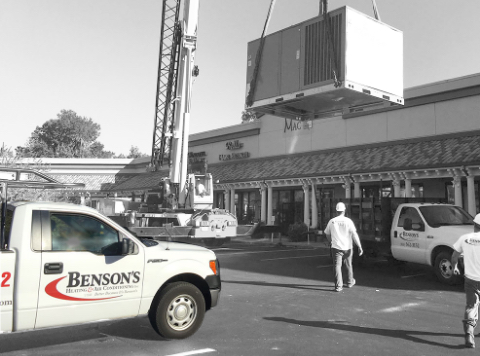 Main Bensons Truck At Commercial Office